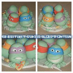 Ninja Turtle Cake Topper, Edible Cake, Ninja Turtles, Cupcake Toppers, Preserves, Fondant, Period, Cake Decorating, Cakes