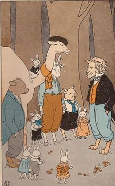 Laidlaw Readers animal gathering ill by Mabel B. Hill by katinthecupboard, via Flickr