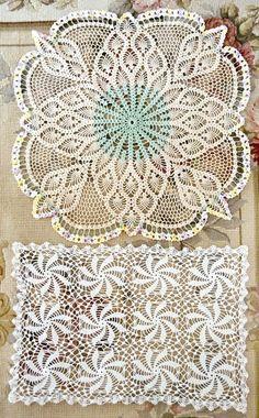 Tapetes de encaje de ganchillo vendimia hermosa por Jenneliserose