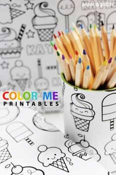 color me printables - so cute - you can personalize and print at office spply store for very special wrapping paper at a few dollars a sheet !
