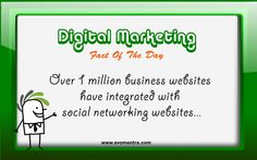 Digital Marketing Fact of the day!  Did you know ??  1 million websites have integrated with social networking websites   http://www.evomantra.com/