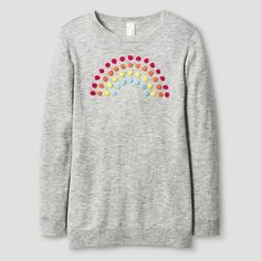 Girls' Icon Pullover Sweater Cat & Jack™ - Light Heather Grey : Target