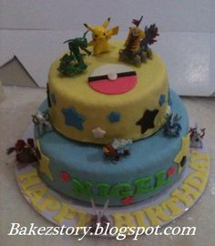 pokemon cake | pokemon cake for Nigel who turned 8yrs. Happy Birthday and hope he ...