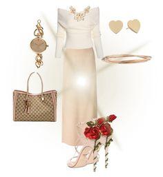 Rose inspiration by aleta-ashley on Polyvore featuring polyvore, fashion, style, Lanvin, Dolce&Gabbana, Gucci, Gemma Simone, Kate Spade, ZALORA and stylelover