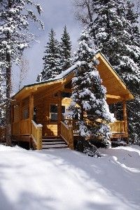 3 bedroom cabin at Mill Creek. Sleeps 7, hot tub, Sat. TV, wood stove, covered deck