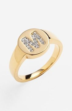 Nadri Pavé Initial Ring   Nordstrom//this is necessary