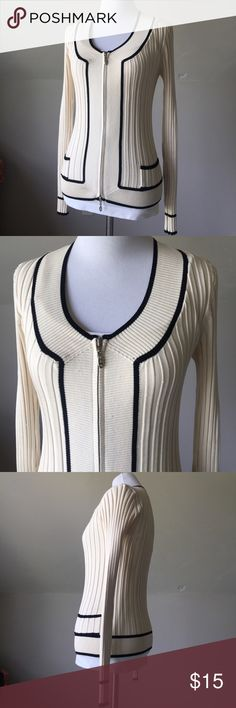 Cache 100% Silk Cardigan Size S 2/4 NWOT Beautiful cut, texture, style. 100% Silk. Classy, comfortable. Pair w/ anything & look fab! Gorgeous cut & style. I love Cache, why'd they go out of business?! Size Small 2/4. Mannequin 2/4. Cache Sweaters Cardigans