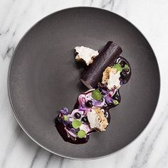 What's a holiday weekend without extravagant desserts? Blueberries and goat cheese by the always amazing @emma._bengtsson of @aquavitnyc! #theartofplating #gastroart #2michelinstars #food #foodie #foodart #foodpic #edibleart #foodphoto #foodphotography #foodphotographer #instafood #gastrogram #gourmet #gastronomy #finedining #swedishchef #nyc #nyceats #nycdining #nycfoodphotographer #signebirckphotography