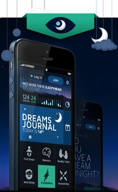 iOS/Android app with dream journal and guides to achieve lucid dreams