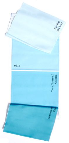 Paint Chip Table Runner - cool idea for a pop of color in the kitchen/dining room.