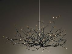 Burning Bush Chandelier in cast and fabricated bronze by Michele Oka Doner.