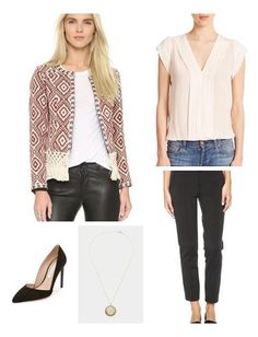 Woven fringe details the hem of this southwestern-inspired TULAROSA jacket bringing texture and interest to this spring work wear look. I love pairing this statement blazer with a simple, neutral blouse and black trousers for an elegant finish.