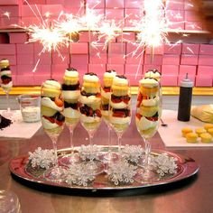 Strawberry Champagne Sparkler Cupcake Dessert