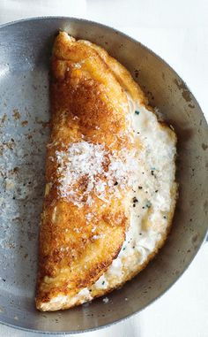 Puffed Three Cheese Omelette - mascarpone, cheddar, parmesan