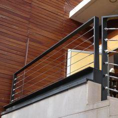 Garde-corps aluminium, acier, cables inox, balustrade, rambarde                                                                                                                                                                                 Plus