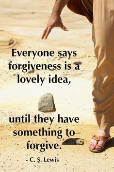 Forgiveness in the powerful words of CS Lewis! Great Quotes, Quotes To Live By, Inspirational Quotes, Inspiring Sayings, Awesome Quotes, Way Of Life, The Life, Cool Words, Wise Words