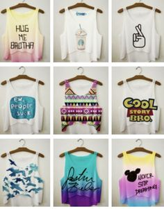 Cute Crop Tanks - Teen Fashion - follow @Christina Childress Childress Childress...