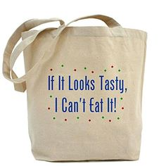 CafePress - I Can't Eat It! Tote Bag - Natural Canvas Tote Bag, Cloth Shopping Bag -- Read more reviews of the product by visiting the link on the image.