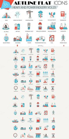 36 Heavy & power industry icons