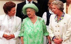Queen Elizabeth, The Queen mother, with her daughters, Princess Margaret, and Queen Elizabeth II.