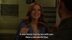 "She never EVER forgot her manners. 19 Reasons Bree Van De Kamp Gave You Life On ""Desperate Housewives"" Bree Van De Kamp, Stand Quotes, Housewife Humor, Attitude, Eyes Game, Fitness Motivation, Spiritual Animal, One Night Stands, One Night Stand Humor"