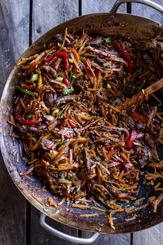 30-Minute Stir Fried Korean Beef and Toasted Sesame Noodles