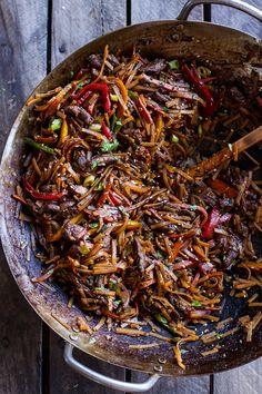 30-Minute Stir Fried Korean Beef and Toasted Sesame Noodles   halfbakedharvest.com @hbharvest