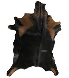"""Natural Black Goat Skin Size: 40"""" X 30"""" in Black and Brown Goat Skin E-590 #cowhidesusa"""