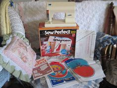 Mattel Sew Perfect SEWING MACHINE with box by Daysgonebytreasures, $15.00