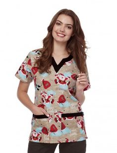 Uniform Advantage offers a vast assortment of medical scrubs and uniforms that are comparable to both Lydia's & Tafford uniforms. Stylish Scrubs, Uniform Advantage, Medical Scrubs, Scrub Tops, Floral Tops, Santa, Caregiver, Blouse, Nursing