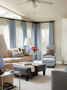 Transitional Living Room Design is the place where you spend time for joy in family togetherness. The best living room is very vital in any home. Living Room Colors, My Living Room, Home And Living, Living Room Designs, Living Room Decor, Modern Living, Blue Curtains Living Room, Cozy Living, Modern Room