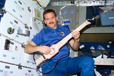 Chris Hadfield brought a collapsible guitar to the Mir Russian space station in 1995