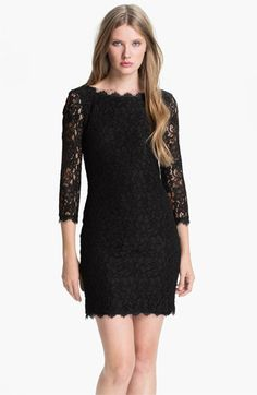 Diane von Furstenberg 'Zarita' Lace Sheath Dress | Nordstrom