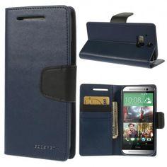 HTC One M8 Sininen Sonata Lompakko Suojakuori  http://puhelimenkuoret.fi/tuote/htc-one-m8-sininen-sonata-lompakko-suojakuori/