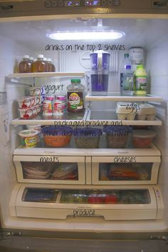 simply organized: a clean & organized fridge