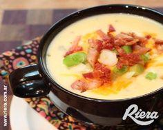 ¡Una sopa crema de cebolla para hacerle frente a cualquier frío! #MiniTostadasFugazetta #Riera