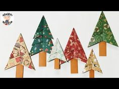 【折り紙】クリスマスツリー 平面・簡単 ☆How to make Origami Christmas tree☆【音声解説あり】 / ばぁばの折り紙 - YouTube Christmas Origami, Christmas Gifts, Xmas, Christmas Ornaments, Christmas Trees, Paper Crafts Origami, Origami Design, Nouvel An, Winter Season
