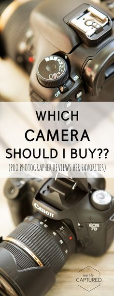 Which camera should I buy? Picking a camera is so confusing! So many options, so many brands. Pro photographer Krista Lee walks you through how to choose the best camera for your needs. Cameras Nikon, Used Cameras, Types Of Cameras, Leica Camera, Nikon Dslr, Canon Lens, Buy Camera, Film Camera, Best Camera For Photography