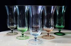 Beautiful HARLEQUIN Glass Coloured CHAMPAGNE Glass Perhaps Champagne PARFAIT #CHIC