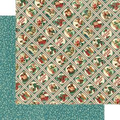 """*PRE-ORDER* Graphic 45 - A Christmas Carol Collection - 12""""x12"""" cardstock - Yuletide Greetings"""