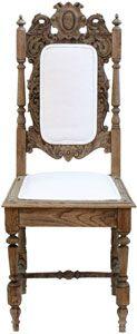 vintage carved wood side chair