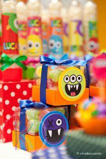 Monstrinhos do Lucas Monster Birthday Cakes, Monster Party, Colegio Ideas, Boy First Birthday, Baby Party, Kids Decor, Shower Party, Birthday Decorations, Halloween Diy