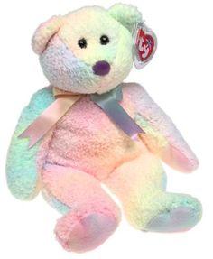 Ty Beanie Buddy – Groovy the Bear Pas… Ty Bears, Charlie Bears, Beanie Baby Collectors, Kawaii, Beanie Babies Value, Ty Babies, Babies Stuff, Beanie Baby Bears, Ty Toys