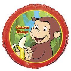 "Curious George 18"" Foil Balloon #YoYoBirthday"