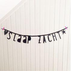 #Wordbanner #tip: #Slaap zacht - Buy it at www.vanmariel.nl - € 11,95