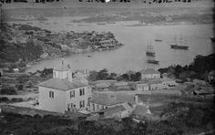 The three Giant Glass Plate Negatives of Sydney Harbour: Restored panorama of Sydney from the Holtermann collection. Invention Of Photography, History Of Photography, Art Photography, Old Images, Old Pictures, First Fleet, Sydney City, Historical Pictures, Australia