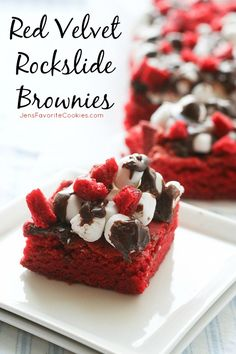 Red Velvet Rockslide Brownies {Cookbook Review}