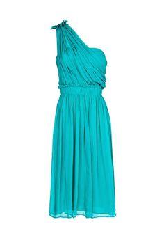 MANGO - Asymmetric silk dress