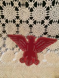 Vintage Eagle Chenille Patch Circa Mid Century 1950s 1960s