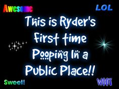 This is Ryder's First time Pooping In a Public Place!!